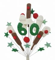 Cricket 60th birthday cake topper decoration - free postage